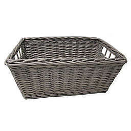 Bee Willow Home Rectangular Storage Basket In Grey