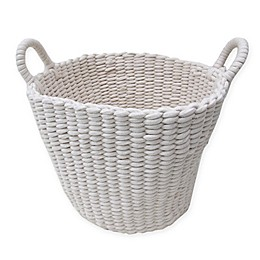 Bee & Willow™ Home Large Round Woven Rope Storage Basket in Ivory