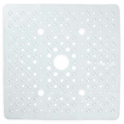27-Inch Square Anti-Slip Tub Mat in Clear