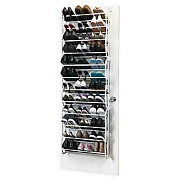 Simplify 36-Pair Adjustable Over the Door Shoe Rack