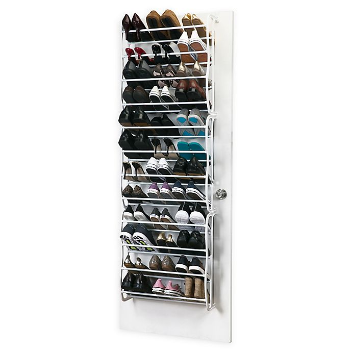 Alternate image 1 for Simplify 36-Pair Adjustable Over the Door Shoe Rack