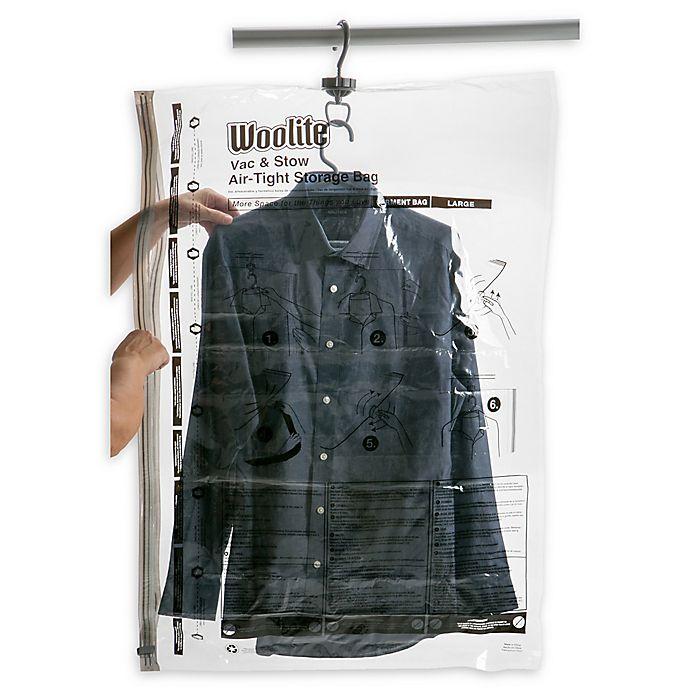 Alternate image 1 for Woolite Air-Tight Hanging Vacuum Storage Bag