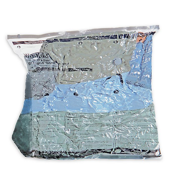 Alternate image 1 for Woolite Air-Tight Jumbo Cube Vacuum Storage Bags
