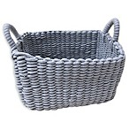 Bee & Willow™ Home Rectangular Woven Cotton Storage Basket in Grey