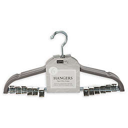 Simplify 6-Pack Velvet Hangers with Clips in Grey