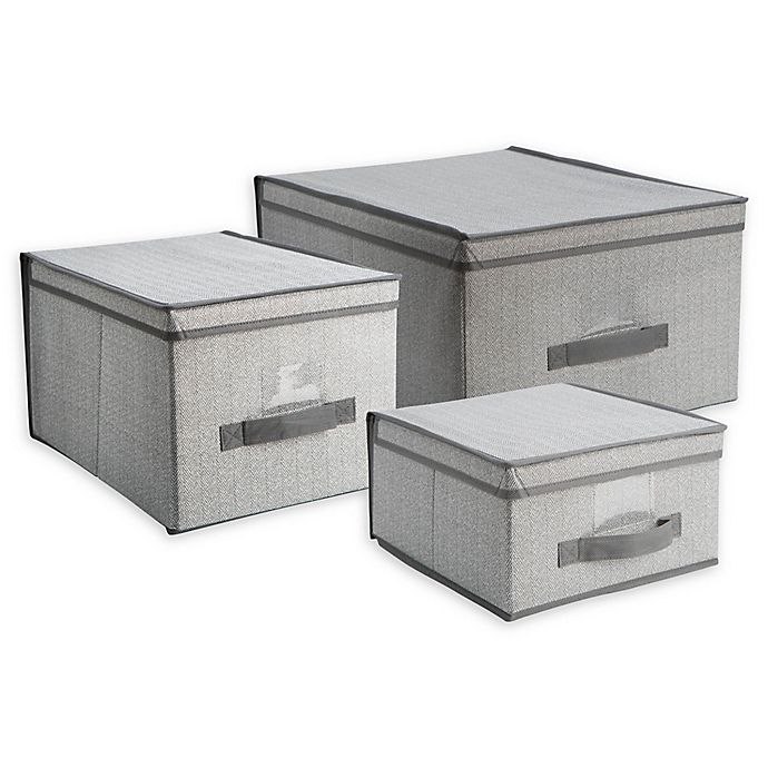 Alternate image 1 for Simplify Large Storage Box in Grey