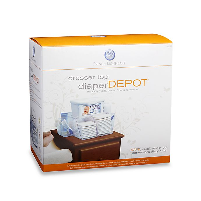 Alternate image 1 for Dresser Top Diaper Depot™ by Prince Lionheart®