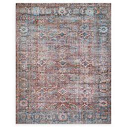 Magnolia Home by Joanna Gaines Lucca Rug in Brick/Ocean