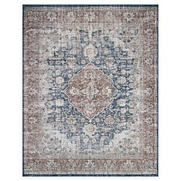Magnolia Home by Joanna Gaines Lucca Rug in Denim/Terracotta
