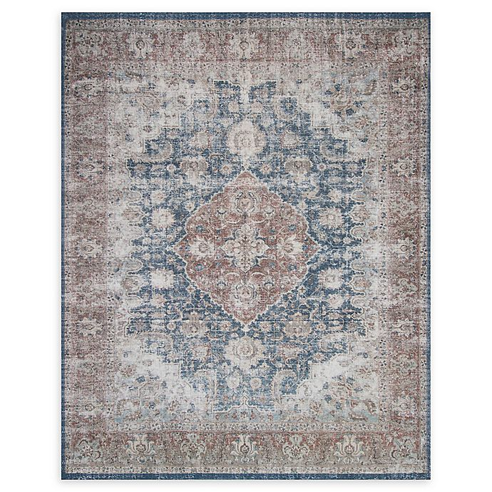 Alternate image 1 for Magnolia Home by Joanna Gaines Lucca Rug in Denim/Terracotta