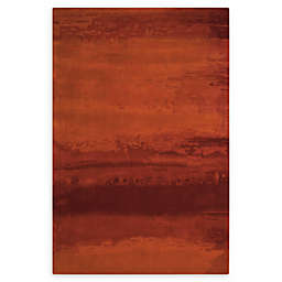 Calvin Klein™ Luster Wash Area Rug in Rust