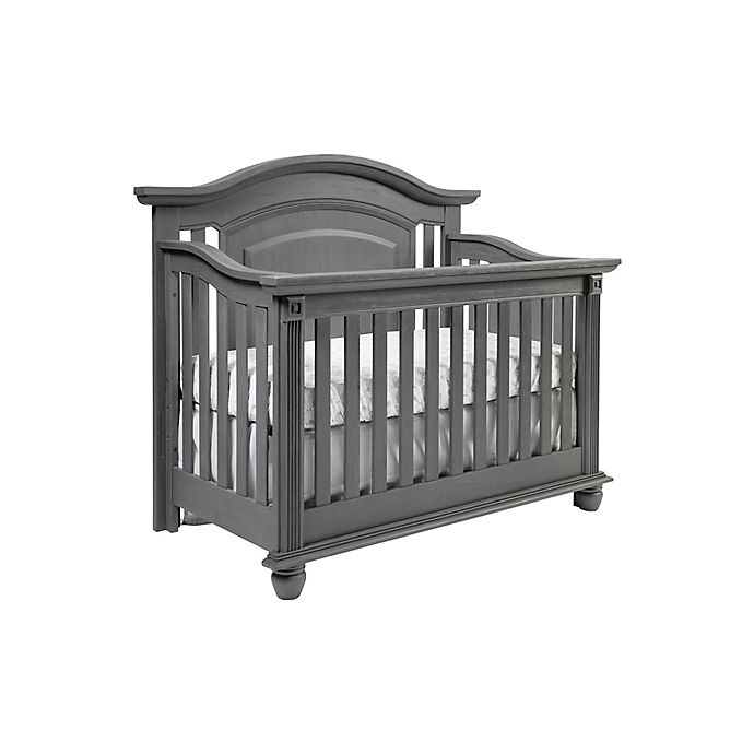 Alternate image 1 for Oxford Baby London Lane 4-in-1 Convertible Crib in Arctic Grey