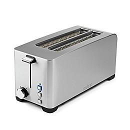 Salton® Space-Saving Long Slot Electronic 4-Slice Toaster