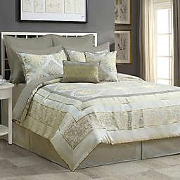 Windsor 12-Piece King Comforter Set in Gold