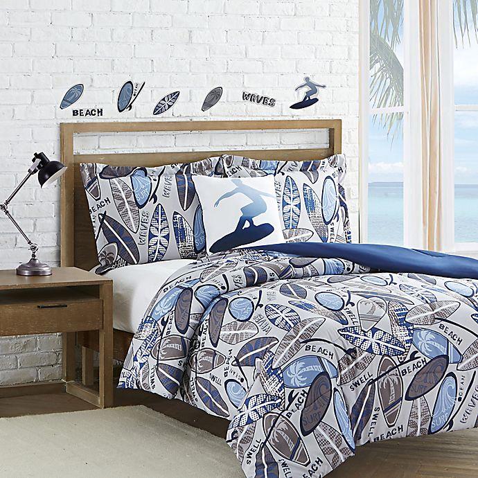 Surf Waves Reversible Comforter Set | Bed Bath & Beyond