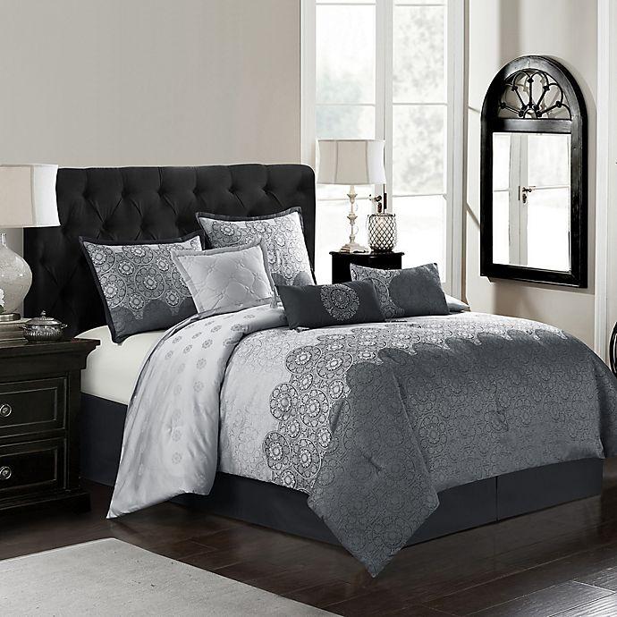 Alternate image 1 for Harwick 7-Piece Queen Comforter Set in Grey