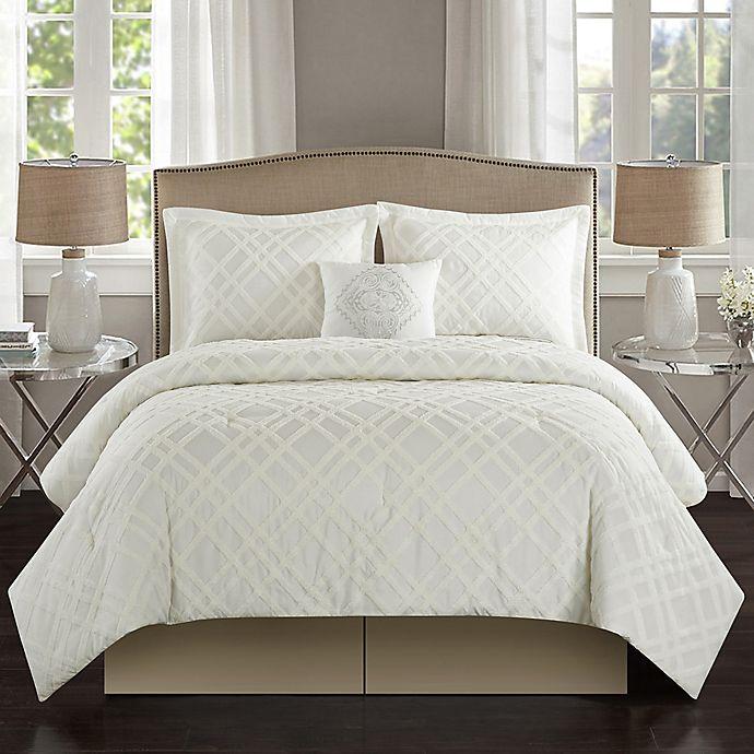 Alternate image 1 for Talulah 5-Piece King Comforter Set in Antique White