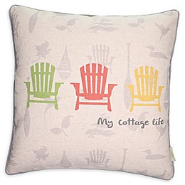 """""""My Cottage Life"""" Square Throw Pillow"""