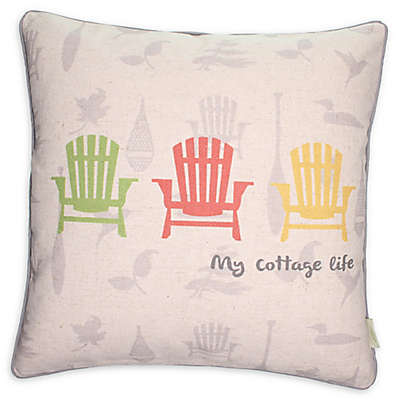 Cottage Life Square Throw Pillows