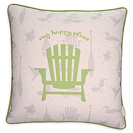 """""""My Happy Place"""" Square Throw Pillow"""