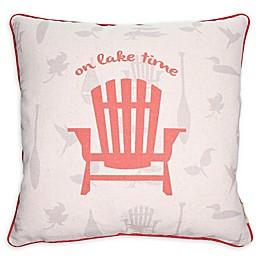 """On Lake Time"" Square Throw Pillow"
