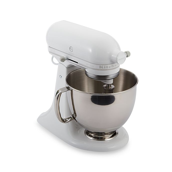 Alternate image 1 for KitchenAid® Artisan® 5 qt. Stand Mixer in White/White