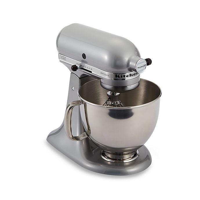 Alternate image 1 for KitchenAid® Artisan® 5 qt. Stand Mixer in Metallic Chrome