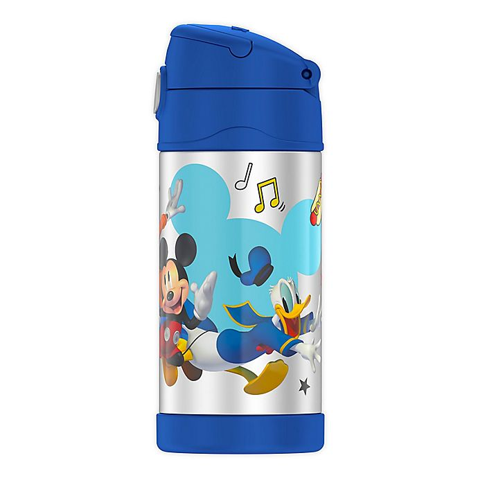 Alternate image 1 for Thermos® Funtainer Mickey Mouse 12-Ounce Straw Bottle