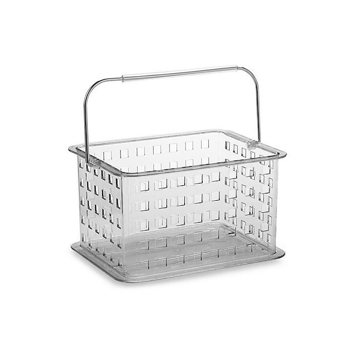 106a2b871528 InterDesign® Zia Clear Small Clear Storage Basket Shower Tote | Bed ...