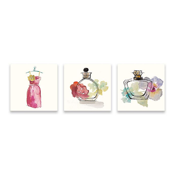 Alternate image 1 for Avanti Collection 14-Inch x 42-Inch Canvas Wall Art (Set of 3)