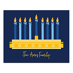 Designs Direct Fully Lit Menorah 20-Inch x 16-Inch Canvas Wall Art