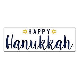 "Designs Direct ""Happy Hanukkah"" 36-Inch x 12-Inch Canvas Wall Art"
