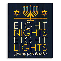"Designs Direct ""Eight Nights, Eight Lights"" 18-Inch x 22-Inch Wood Wall Art"