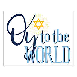 """Designs Direct """"Oy to the World"""" 14-Inch x 11-Inch Canvas Wall Art"""