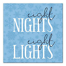 """Designs Direct """"Eight Nights, Eight Lights"""" 16-Inch Square Canvas Wall Art"""