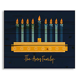 Designs Direct Lit Menorah 22-Inch x 17.81-Inch Wood Wall Art