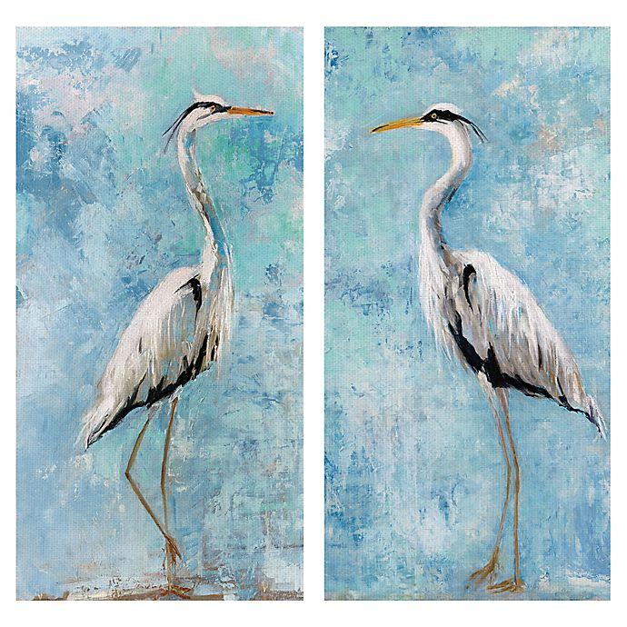 Alternate image 1 for Heron I & II Canvas Wall Art (Set of 2)