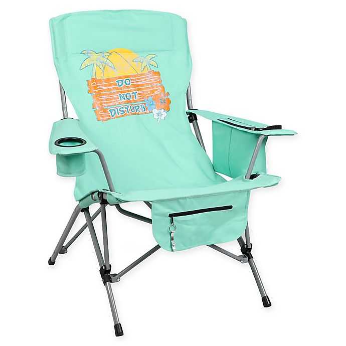 Marvelous Do Not Disturb Folding Camp Chair In Teal Bed Bath Beyond Gmtry Best Dining Table And Chair Ideas Images Gmtryco