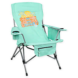 """Do Not Disturb"" Folding Camp Chair in Teal"