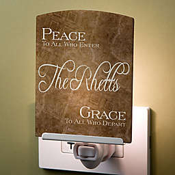 Peaceful Welcome Personalized Nightlight