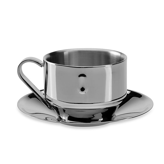 Berghoff Stainless Steel Straight Cuccino Cup With Saucer