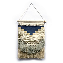 Woven Textured Tapestry in Blue
