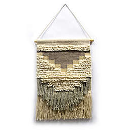 Woven Textured Tapestry in Cream