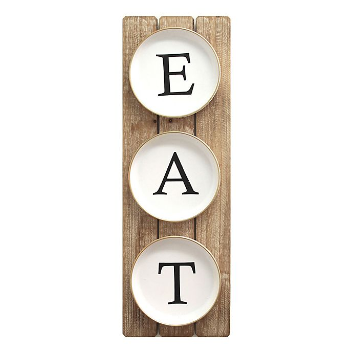 Stratton Home Decor Eat Wooden Plank