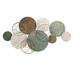 Stratton Home Decor Woven Texture Metal Plates 46.65-Inch x 24.61-Inch Wall Decor