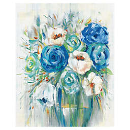 Cobalt Bouquet 16-Inch x 20-Inch Canvas Wall Art