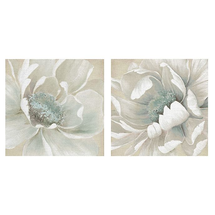 Alternate image 1 for Winter Blooms I & II Square Canvas Wall Art (Set of 2)