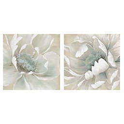 Winter Blooms I & II 12-Inch Square Canvas Wall Art (Set of 2)