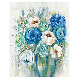 Cobalt Bouquet Canvas Wall Art