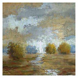 Lush Meadow I Square Canvas Wall Art
